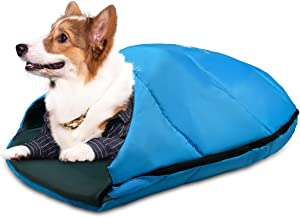 GEERTOP Dog Sleeping Bag Durable Packable Pet Sleeping Bed Comfortable Washable, Portable Pet Bed for Cats and Small Dogs ...