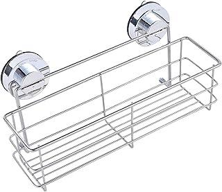 zmayastar 浴室用ラック 強力吸盤 ステンレス バスルームラック キッチン お風呂場 収納 棚 バス用品 シャンプーラック シャワージェルラック ZM-WS-108