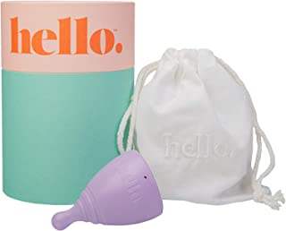 THE HELLO CUP Extra Small Menstrual Cup--FDA Registered, BPA Free, Reusable, Hypoallergenic, Recyclable, Me...