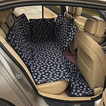 Geepro Waterproof Pet Dog Car Hammock Back Seat Cover Protection Blanket  Black