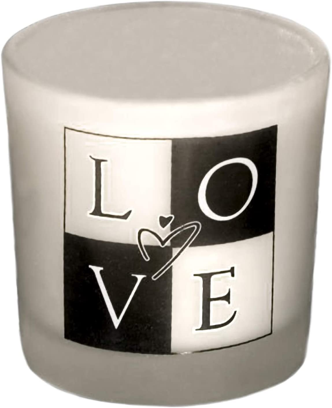 FASHIONCRAFT 5417 Love Glass Votive Limited time cheap sale with Frosted Candle Holder sale