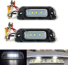 MOLEAQI 2pcs 12V LED Bombilla de luz de matrícula Sin Error Canbus para M-ercedes para B-ENZ AMG X164 W163 W164 W251 ML GL R 320350450500550 63