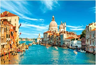 OhradWord Water City of Venice Jigsaw Puzzles 1000 Pieces for Adults Kids - Capital of Classical Charm - Large Puzzle Game Toys Gift