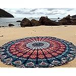 raajsee Round Beach Towel Boho Throw Hippie Tapestry Cotton Table Cloth Meditation Yoga Mat Rugs