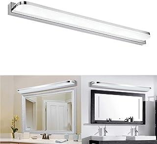 Glighone 14W 62cm Luz Baño Lámpara Espejo LED 2835SMD 6500k Luz de Maquillaje contra Niebla Impermeable Apliques Acero Inoxidable para Tocador Probador Cuarto de Baño, Blanco Frío
