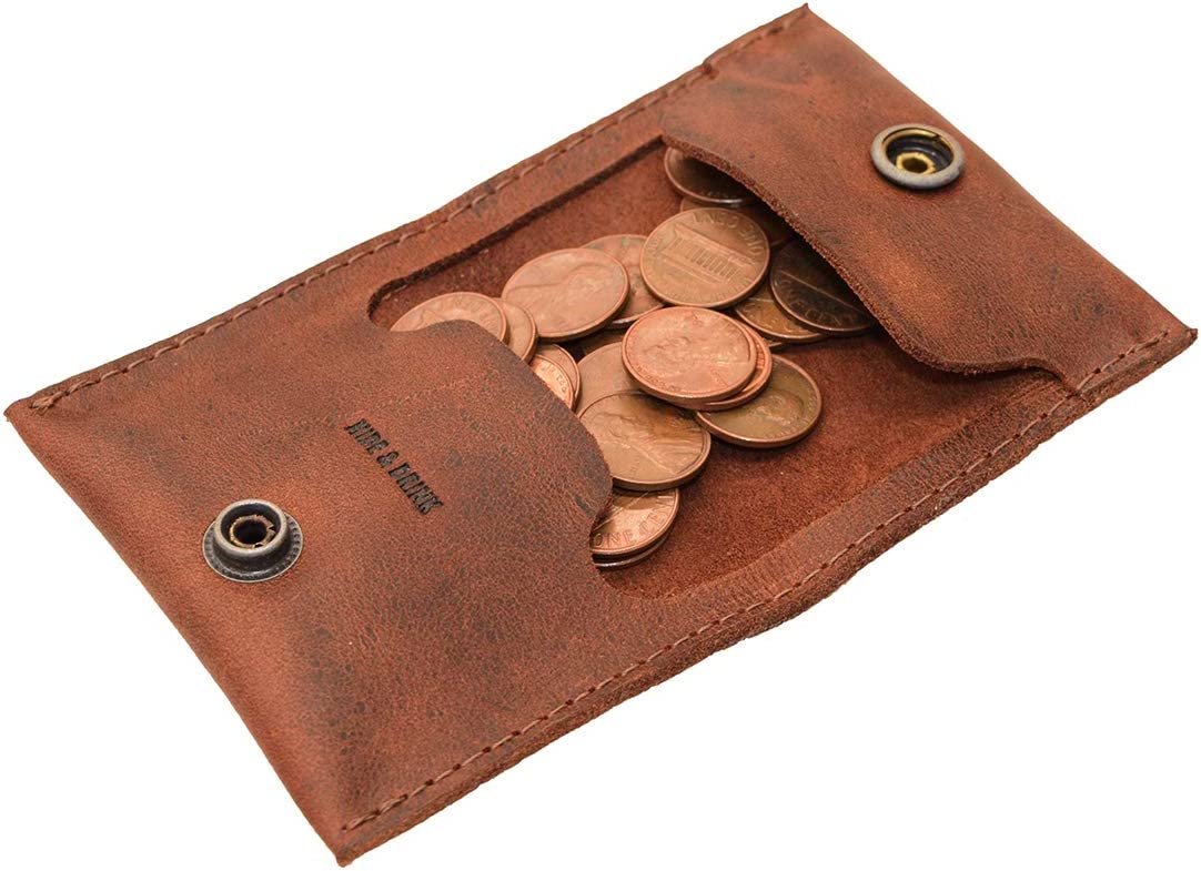 40% OFF Cheap Sale Hide Drink Leather Coin Case Store Organizer Holder W Pouch Cash