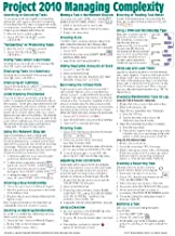 By Beezix Inc Microsoft Project 2010 Quick Reference Guide: Managing Complexity (Cheat Sheet of Instructions, Tips