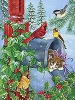 大人のためのDIY5Dダイヤモンドペインティングキット動物の鳥、クロスステッチフルドリルラインストーン刺繡アートクラフト壁の装飾ギフトスクエア40×50cm