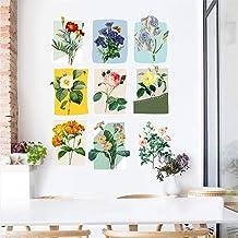 Serie 1 - Ramo de hojas, marco de fotos, plantas, pastorales, álbum 3D, vinilo extraíble, impermeable, para pared, decoración de pared para dormitorio, sala de estar, ventana, 45 x 60 cm