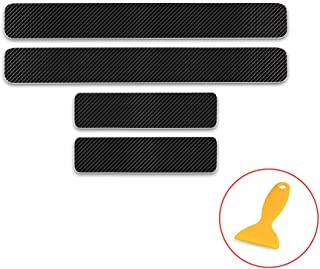 Longzhimei Car Door Sill Protector for Ford Fiesta Focus Fusion C-max Door Entry Guard Welcome Pedal Threshold 4D Carbon Fiber Stickers Anti-Scratch