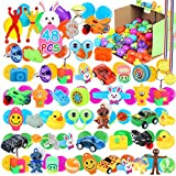 48 Pack Easter Eggs -Colorful Plastic Easter Eggs with Different Kinds of Little Toys, for Easter Hunt, Basket Stuffers Fillers, Theme Party Favor for Kids(2.36in)