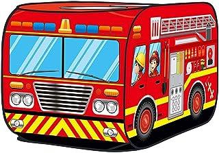 Tiendas de campaña Applyvt Niños Pop Up Play Carpa de Juguete Casa Plegable del autobús de la casa del Juego del Coche de policía del camión de Bomberos del paño Mobiliario y materiales para educación temprana