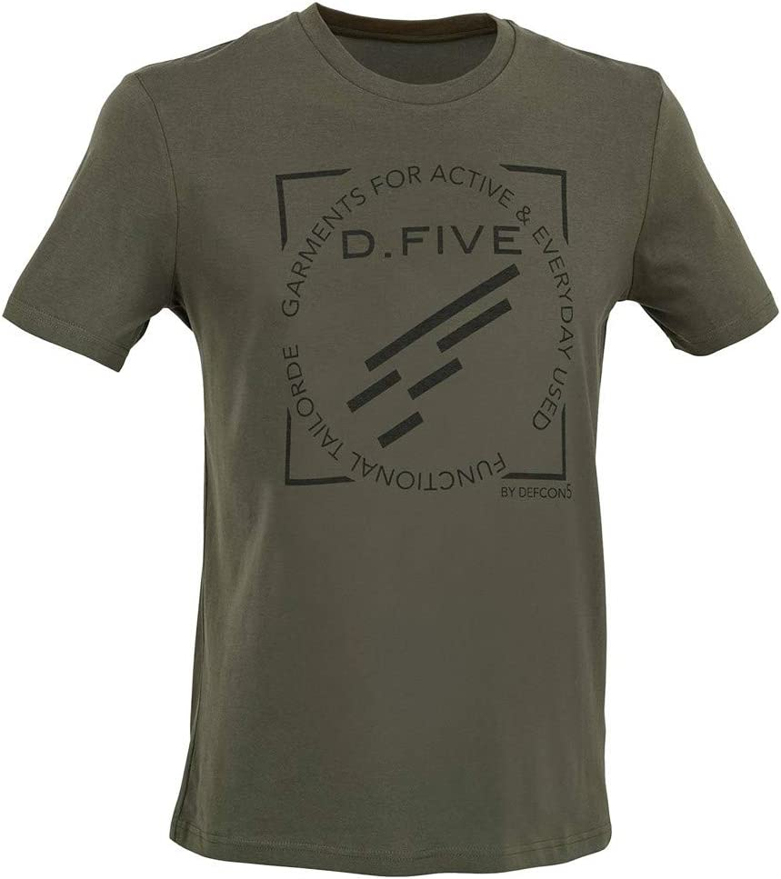 D.FIVE - DF5-TFL02 T-Shirt Front Chest Logo Khaki XXL