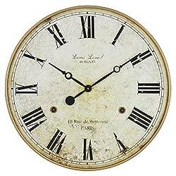 Aspire Leniel Large Wall Clock, Beige