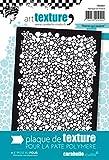 Carabelle Studio Rolling Stones Placa Textura, Caucho, Blanco, 9.0x13.5x0.5 cm