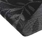 Homcomoda Platzsets Abwaschbar Hitzebeständig Tischsets Rutschfest  Schmutzabweisend Platzdeckchen für Küchentisch 6er Set(Schwarz) - 4