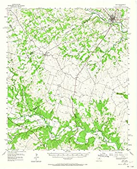 Texas Maps - 1956 Hico TX - USGS Historical Topographic Wall Art   18in x 24in