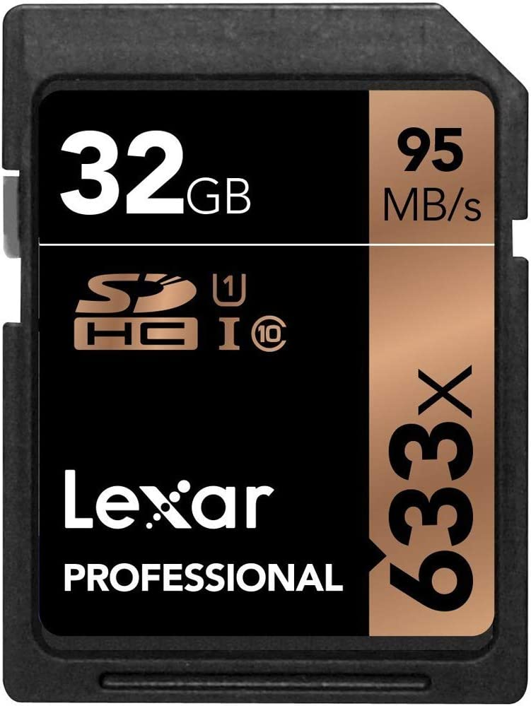 Lexar LSD32GCB1NL633 Professional 633x 32GB SDHC UHS-1 Class 10 Memory Card 4 Pack