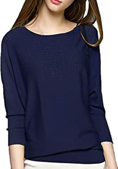 MFrannie Women Illusion Embroider Flower Sleeve Thin Knitted Sweater