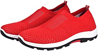 SKLT Men Breathable Woven Sports Sneakers Male Solid Comfortable Light Mesh Running Shoes