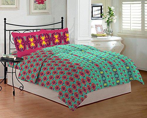 Bombay Dyeing TC-290 - Sábana para cama de matrimonio (274 x 229 cm), color rosa