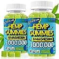 (2 Pack) Hemp Gummiés 1,000,000 & Magnesium, Vegan Organic Hemp Magnesium Gummiés -120 Count, Made in USA