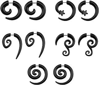 ZeSen Jewelry 16g Graceful Tribal spirale falso dell'orecchio Indicatori acrilico coni fake plugs Orecchini Horn