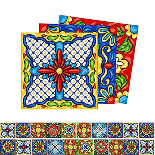 KU Syang Pegatinas para Azulejos de Cocina Pegatinas de Salpicaduras 3D Mosaico de BaaO Autoadhesivo de Despegar y Pegar -20X20Cm