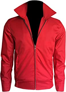 Men's James Dean Jim Stark Rebel Without a Cause Red Cotton Jacket