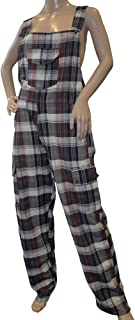 Shiva Greyjoy Funky Chequered Cotton Combat Dungarees - Nepalese Brightly Coloured Dungarees
