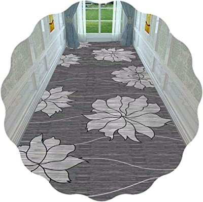 JIAJUAN Hallway Runner Rug 3D Floral Printed Indoor Outdoor Easy Care Cuttable Large Carpet for Living Room Kitchen Bedroom Aisle (Color : A, Size : 60x600cm)