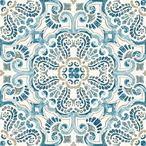 WallPops FP2477 - Juego de 10 azulejos para suelos de fontaine