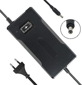 YZPOWER 54.6V 4A Cargador de batería para Patinete electrico, Cargador para Bicicleta eléctrica, 48V Litio Cargador de Batería, CC 5,5 mm, 2,1 mm ...