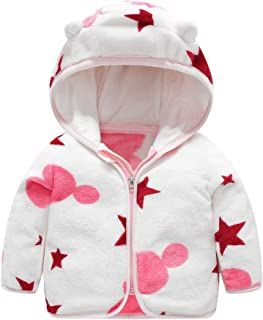 Baby Girls Hoodies Coat, Toddler Kids Striped Printed Long Sleeve Zipper Sweater Jacket Outwear