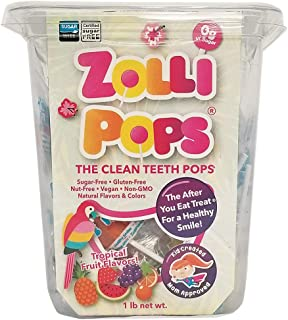 Zollipops Clean Teeth Lollipops, Tropical Flavors, 16 Ounce