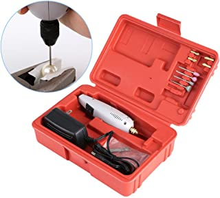 Qbingo Mini hand Drill,Mini DIY electric drill,12W Mini Rotary tool kit Metal jewelry, wood, jade, stone, small handicraft, cutting, drilling, grinding, engraving, micro precision sander grinder.