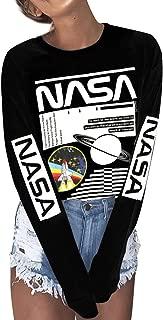 Women NASA Long Sleeve Shirt NASA Shirt Pullover Graphic Shirt Women Tops