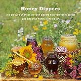 50 Pcs/Satz Haushalt Holz Tragbare Mini Marmelade Honig Dipper Jar Dispensing Sammeln Rührstab Stick Mino Dispense Drizzle Honig(8CM) - 7