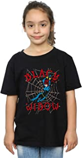Marvel Girls Black Widow Web T-Shirt