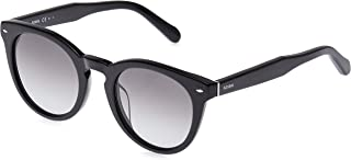 Fossil Women's Fos 2060/s Round Sunglasses, Black, 48 mm