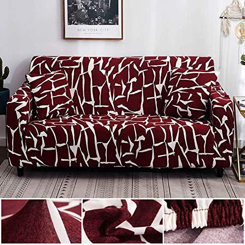 WXQY Funda de sofá de Estilo Bohemio Funda de sofá de Sala de Estar elástica de algodón Puro Funda de sofá Individual sillón Chaise Longue A8 1 Plaza