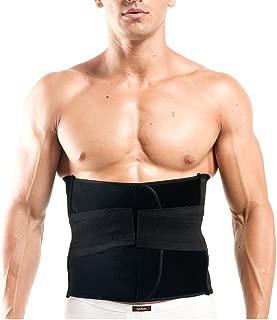 EUBUY Adjustable Waist Trimmer Belt - for Men and Women - Abdominal Support Abdomen Binder Belly Fat Burning Gym Exercise Tummy Shaper Wrap Slimming Slimmer Brace Girdle - XL for Waist 36.6-43.3 Inch