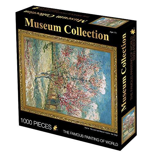 LJ123 Van Gogh Peinture Puzzle Ciel Étoilé Paysage 1000 Pièces Puzzle Décorations pour La Maison Cadeau pour Les Adultes