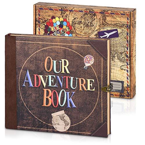 Álbum De Fotos, álbum De Recortes Our Adventure Book , Diario, Libro De Visitas Con Sobre 3D, Acción De Gracias, Navidad, Aniversario, Boda, Cumpleaños, Regalo Del Día De San Valentín (Texto)