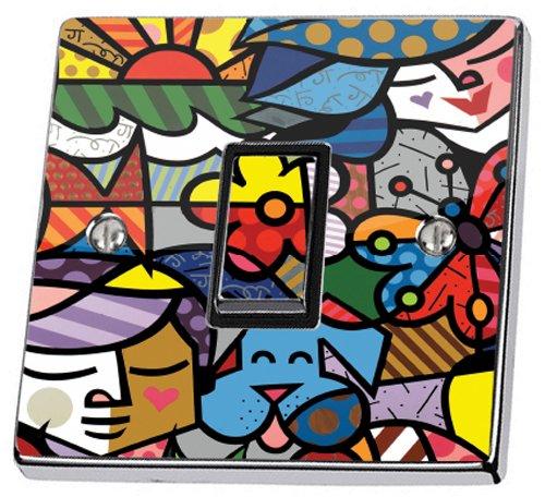 Art abstrait Interrupteur Sticker Peau en Housse