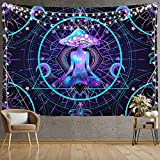 Trippy Tapestry Psychedelic Wall Hanging Mushroom Chakra Wall Blanket Decor for Home, Bedroom, Living Room and Dorm 59x82 Inches