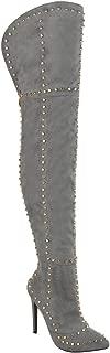 Best grey thigh high boots uk Reviews