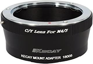 C/Y-M43, KECAY Lens Mount Adapter for C/Y Contax/Yashica Lens To Micro 4/3 Four Thirds M43 MFT System Camera, Olympus Pen and Panasonic Lumix Cameras, Contax-M43, Yashica-M43