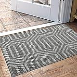 """DEXI Indoor Doormat, Non Slip Absorbent Resist Dirt Entrance Rug, 24""""x36"""" Machine Washable Low-Profile Inside Floor Door Mat"""
