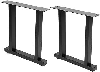 Wakects Pied de table style industriel - Lot de 2 pieds de table en fer forgé - Pieds pour table de salle à manger, table ...